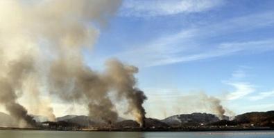 Enfrentamientos con artillería en los mares de la península coreana