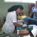 """Yuniet Rodríguez recibe atención médica luego de resultar herido Foto tomada de """"Cambios en Cuba"""""""