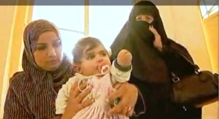 Fotograma de reportaje de BBC sobre malformaciones en niños de Fallujah