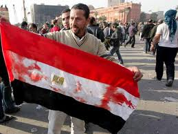 Manifestante en Egipto