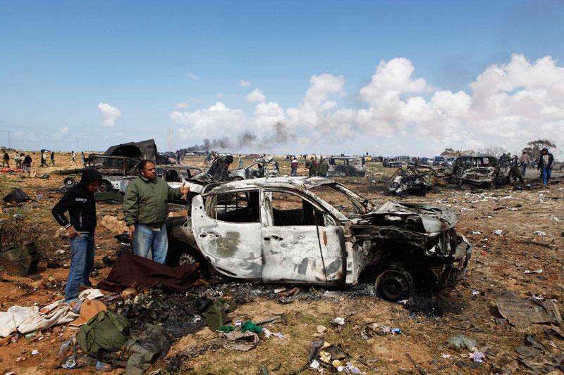 """Efectos del bombardeo """"aliado"""" contra Libia"""