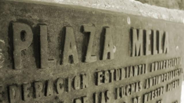 Tarja en la Plaza Mella en la Universidad de las Ciencias Informáticas de La Habana,Cuba