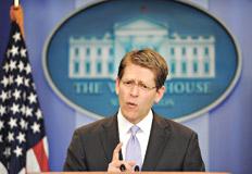 Jay Carney, jefe de prensa de la Casa Blanca, ofreció pocos detalles sobre la muerte de Osama bin Laden.