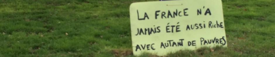 Cartel de la rotonda de Les Flaneries, cercana al Mc Donald's de La Roche sur Yon, 2/03/19