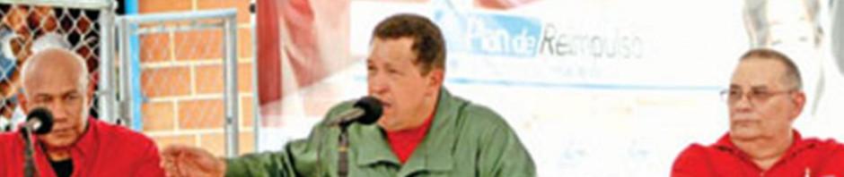 El Dr. Joaquín García Salabarría en una reunión presidida por el Presidente venezolano Hugo Chávez.
