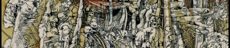 José Luis Fariñas, Apocalipsis, acuarela (serie), frag., colección J. Izquierdo, 2010