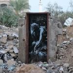 Thinker (El pensador), Gaza, Foto Banksy
