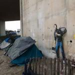 Imagen de Banksy en Calais, Francia, 2015. Foto Le Monde