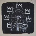Banksy retoma la corona distintiva del arte de Basquiat. Londres, 2017. Foto BANKSY