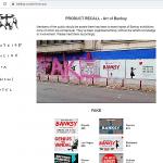 Captura de pantalla del sitio de Banksy donde el artista nos previene de las especulativas exposiciones que hacen con su arte los museos y el precio que hacen pagar al público. (https://www.banksy.co.uk/shows.asp)